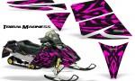 Ski Doo Rev CreatorX Graphics Kit Tribal Madness Pink 150x90 - Ski-Doo Rev Graphics