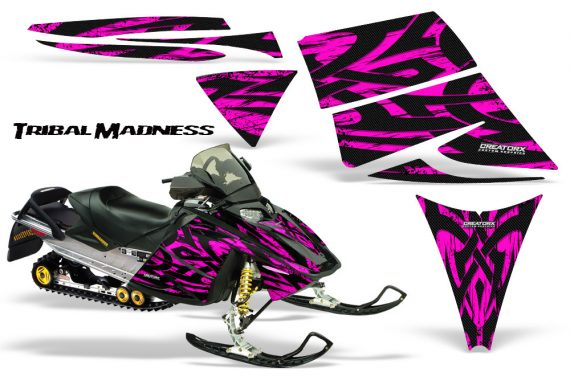 Ski Doo Rev CreatorX Graphics Kit Tribal Madness Pink 570x376 - Ski-Doo Rev Graphics