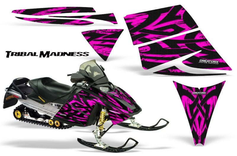 Ski-Doo-Rev-CreatorX-Graphics-Kit-Tribal-Madness-Pink