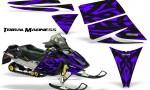 Ski Doo Rev CreatorX Graphics Kit Tribal Madness Purple 150x90 - Ski-Doo Rev Graphics