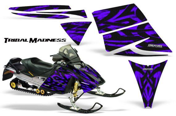 Ski Doo Rev CreatorX Graphics Kit Tribal Madness Purple 570x376 - Ski-Doo Rev Graphics