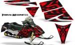 Ski Doo Rev CreatorX Graphics Kit Tribal Madness Red 150x90 - Ski-Doo Rev Graphics