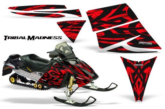 Ski Doo Rev CreatorX Graphics Kit Tribal Madness Red 570x376 - Ski-Doo Rev Graphics