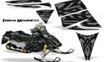 Ski Doo Rev CreatorX Graphics Kit Tribal Madness Silver 150x90 - Ski-Doo Rev Graphics