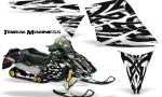 Ski Doo Rev CreatorX Graphics Kit Tribal Madness White 150x90 - Ski-Doo Rev Graphics