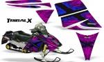 Ski Doo Rev CreatorX Graphics Kit TribalX Blue Pink 150x90 - Ski-Doo Rev Graphics