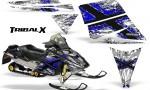 Ski Doo Rev CreatorX Graphics Kit TribalX Blue White 150x90 - Ski-Doo Rev Graphics