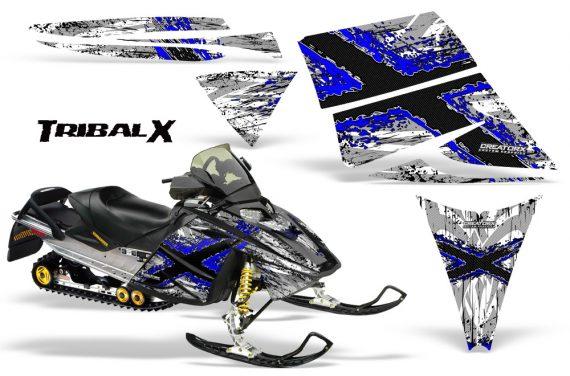 Ski Doo Rev CreatorX Graphics Kit TribalX Blue White 570x376 - Ski-Doo Rev Graphics