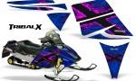 Ski Doo Rev CreatorX Graphics Kit TribalX Pink Blue 150x90 - Ski-Doo Rev Graphics