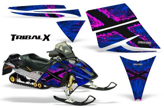 Ski Doo Rev CreatorX Graphics Kit TribalX Pink Blue 570x376 - Ski-Doo Rev Graphics