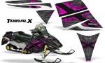 Ski Doo Rev CreatorX Graphics Kit TribalX Pink Silver 150x90 - Ski-Doo Rev Graphics