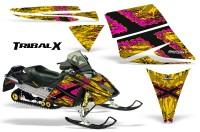 Ski-Doo-Rev-CreatorX-Graphics-Kit-TribalX-Pink-Yellow