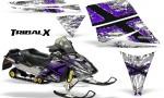 Ski Doo Rev CreatorX Graphics Kit TribalX Purple White 150x90 - Ski-Doo Rev Graphics