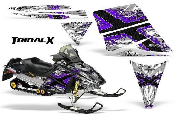 Ski Doo Rev CreatorX Graphics Kit TribalX Purple White 570x376 - Ski-Doo Rev Graphics