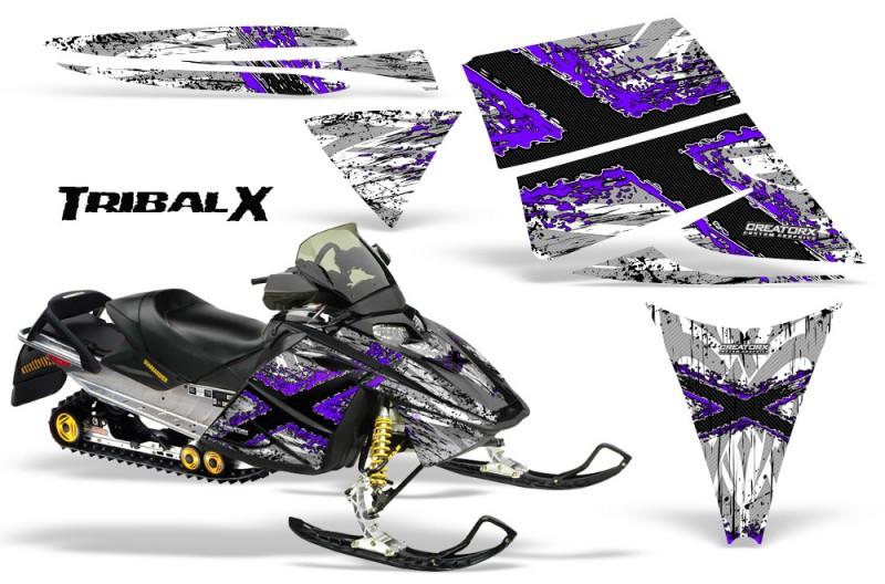 Ski-Doo-Rev-CreatorX-Graphics-Kit-TribalX-Purple-White