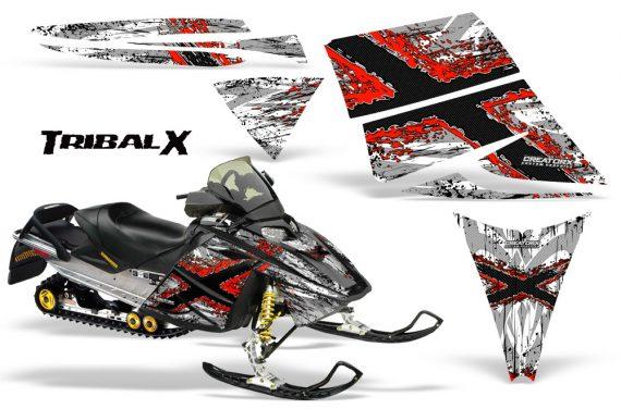 Ski Doo Rev CreatorX Graphics Kit TribalX Red White 570x376 - Ski-Doo Rev Graphics