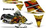 Ski Doo Rev CreatorX Graphics Kit TribalX Red Yellow 150x90 - Ski-Doo Rev Graphics