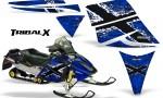Ski Doo Rev CreatorX Graphics Kit TribalX White Blue 150x90 - Ski-Doo Rev Graphics