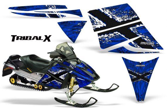 Ski Doo Rev CreatorX Graphics Kit TribalX White Blue 570x376 - Ski-Doo Rev Graphics