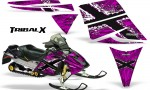 Ski Doo Rev CreatorX Graphics Kit TribalX White Pink 150x90 - Ski-Doo Rev Graphics