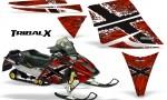 Ski Doo Rev CreatorX Graphics Kit TribalX White Red 150x90 - Ski-Doo Rev Graphics