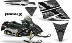 Ski Doo Rev CreatorX Graphics Kit TribalX White Silver 150x90 - Ski-Doo Rev Graphics
