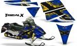 Ski Doo Rev CreatorX Graphics Kit TribalX Yellow Blue 150x90 - Ski-Doo Rev Graphics