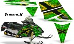 Ski Doo Rev CreatorX Graphics Kit TribalX Yellow Green 150x90 - Ski-Doo Rev Graphics