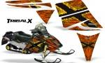 Ski Doo Rev CreatorX Graphics Kit TribalX Yellow Orange 150x90 - Ski-Doo Rev Graphics