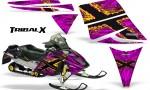 Ski Doo Rev CreatorX Graphics Kit TribalX Yellow Pink 150x90 - Ski-Doo Rev Graphics