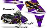Ski Doo Rev CreatorX Graphics Kit TribalX Yellow Purple 150x90 - Ski-Doo Rev Graphics