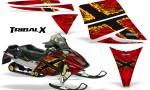 Ski Doo Rev CreatorX Graphics Kit TribalX Yellow Red 150x90 - Ski-Doo Rev Graphics