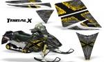 Ski Doo Rev CreatorX Graphics Kit TribalX Yellow Silver 150x90 - Ski-Doo Rev Graphics