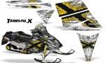 Ski Doo Rev CreatorX Graphics Kit TribalX Yellow White 150x90 - Ski-Doo Rev Graphics