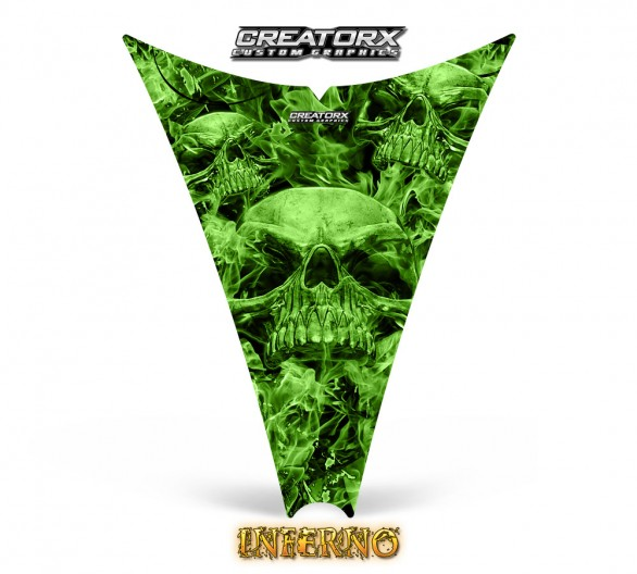 Ski-Doo-Rev-Hood-CreatorX-Graphics-Kit-Inferno-Green
