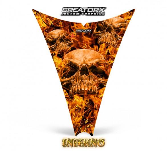 Ski-Doo-Rev-Hood-CreatorX-Graphics-Kit-Inferno-Orange