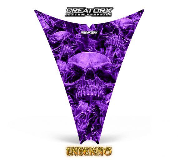 Ski Doo Rev Hood CreatorX Graphics Kit Inferno Purple 570x513 - Ski-Doo Rev Hood Graphics