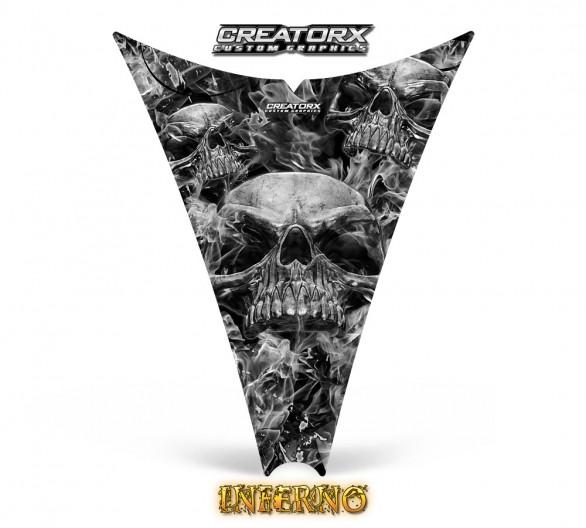Ski-Doo-Rev-Hood-CreatorX-Graphics-Kit-Inferno-Silver