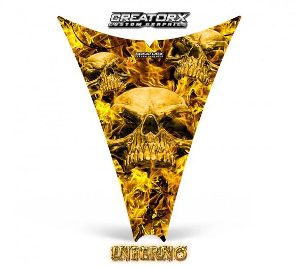 Ski-Doo-Rev-Hood-CreatorX-Graphics-Kit-Inferno-Yellow