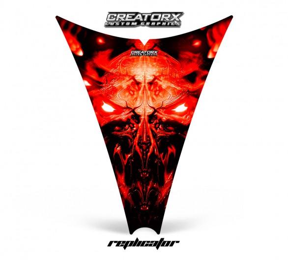 Ski-Doo-Rev-Hood-CreatorX-Graphics-Kit-Replicator-Red