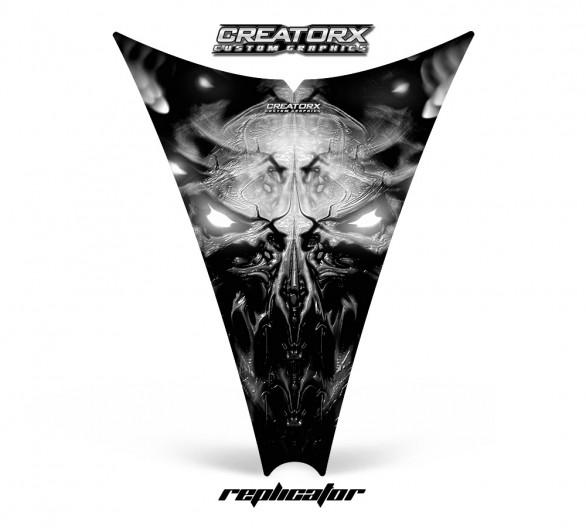 Ski-Doo-Rev-Hood-CreatorX-Graphics-Kit-Replicator-Silver