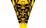 Ski Doo Rev Hood CreatorX Graphics Kit Skullcified Yellow 150x90 - Ski-Doo Rev Hood Graphics