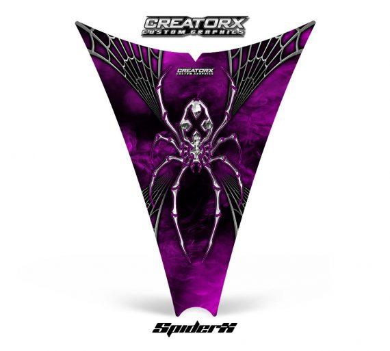 Ski Doo Rev Hood CreatorX Graphics Kit SpiderX Pink Web 570x513 - Ski-Doo Rev Hood Graphics