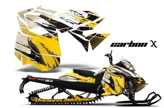 Ski Doo Rev XM Summit 2013 AMR Graphics Kit CX Y 570x376 - Ski-Doo Can-Am Rev XM 2013-2017 Graphics
