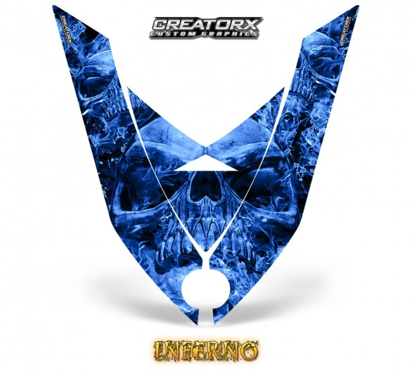 Ski-Doo-Rev-XP-Hood-CreatorX-Graphics-Kit-Inferno-Blue