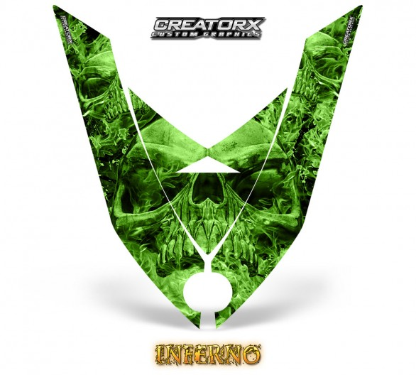 Ski-Doo-Rev-XP-Hood-CreatorX-Graphics-Kit-Inferno-Green