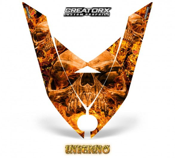 Ski-Doo-Rev-XP-Hood-CreatorX-Graphics-Kit-Inferno-Orange