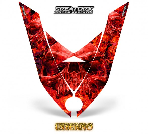 Ski-Doo-Rev-XP-Hood-CreatorX-Graphics-Kit-Inferno-Red