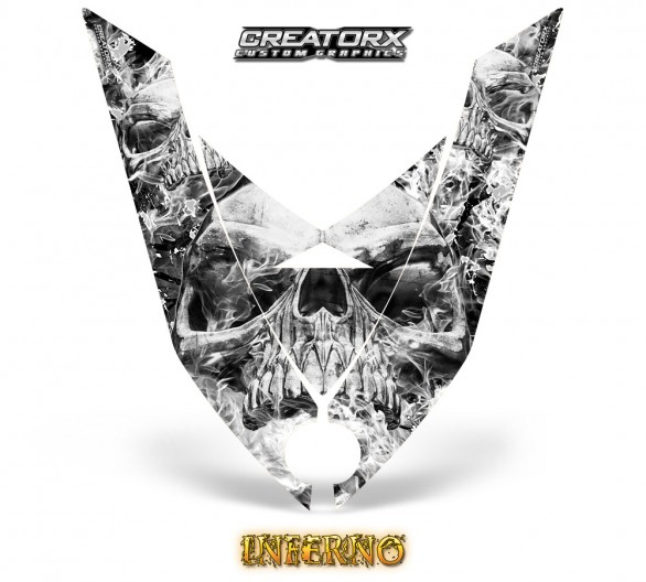Ski-Doo-Rev-XP-Hood-CreatorX-Graphics-Kit-Inferno-White