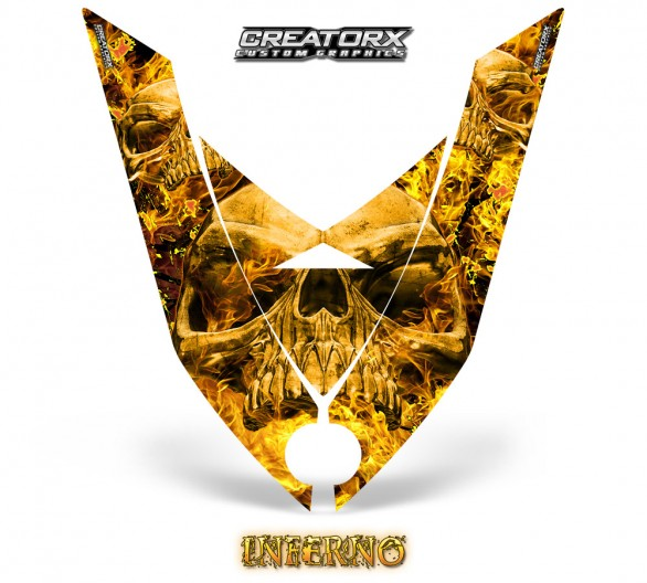 Ski-Doo-Rev-XP-Hood-CreatorX-Graphics-Kit-Inferno-Yellow